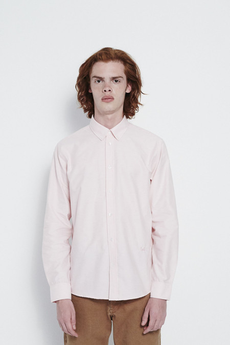 Soulland Goldsmith Button Down Shirt in Pink