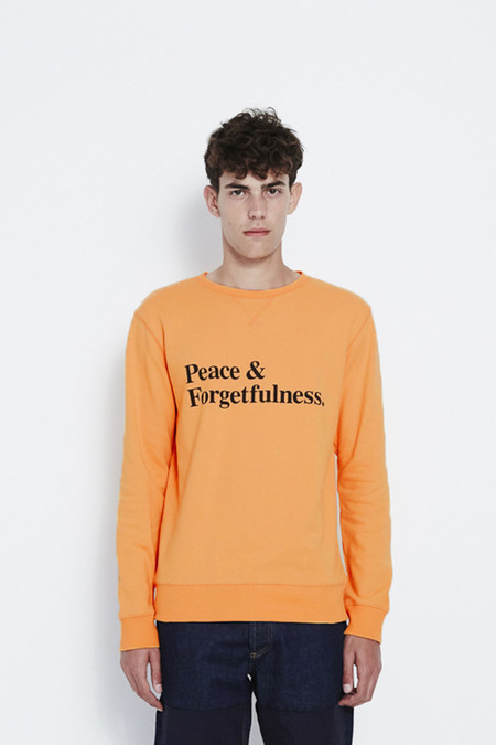 Soulland Omelette Sweat with Print in Orange