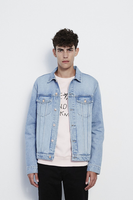 Soulland Shelton Denim Jacket in Light Blue