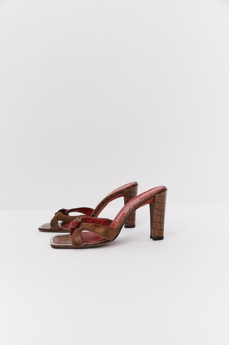 [Pre-Loved] Donald Pliner Leather Heels - Brown