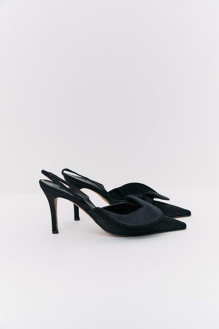 [Pre-Loved] Kate Spade Sateen Slingback Pumps - Black