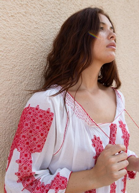 Vintage Hungarian Blouse Top