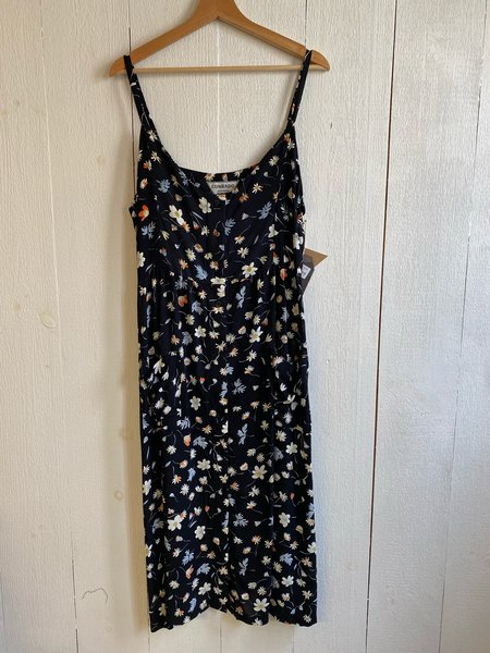 Conrado Elysha Buttonfront Dress - Black Floral