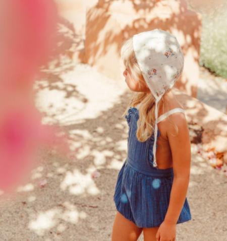 kids Liilu Niki Romper - blue