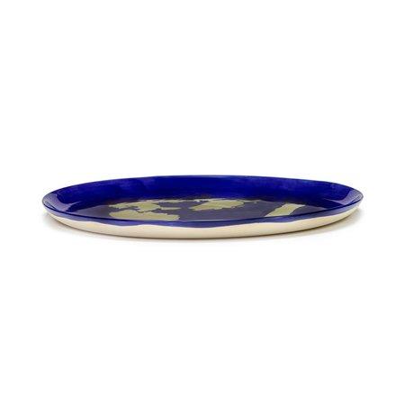 Serax Ottolenghi Feast Serving Plate - Lapis/Gold Pepper