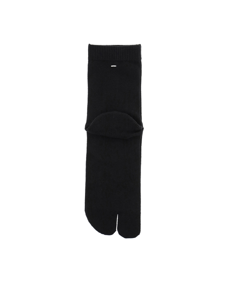 Maison Margiela Tabi Ribbed Sock - Black