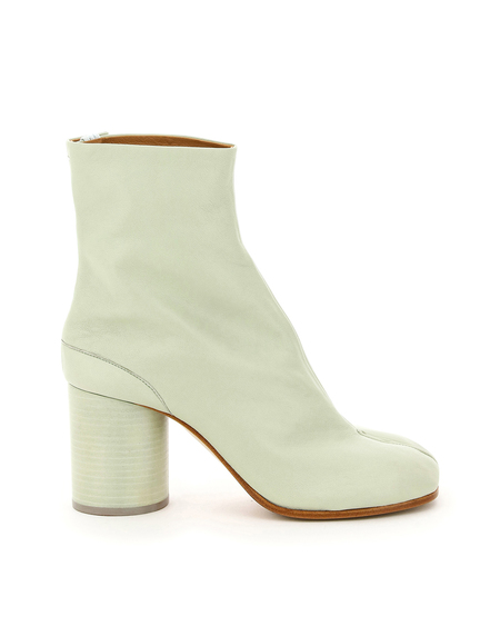 Maison Margiela Tabi Ankle Leather Boots - Green