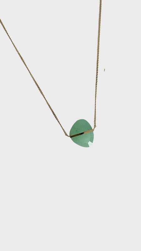 Januka 1600 chrysoprase Necklace - Gold