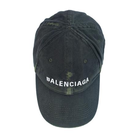 Balenciaga Logo Cap - Dark Green