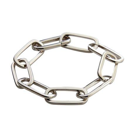 Machete Grande Solid Paperclip Chain Bracelet - Sterling
