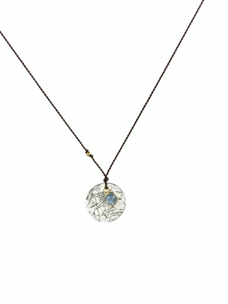 Margaret Solow Tourmalated Quartz & Aqua 18k Necklace