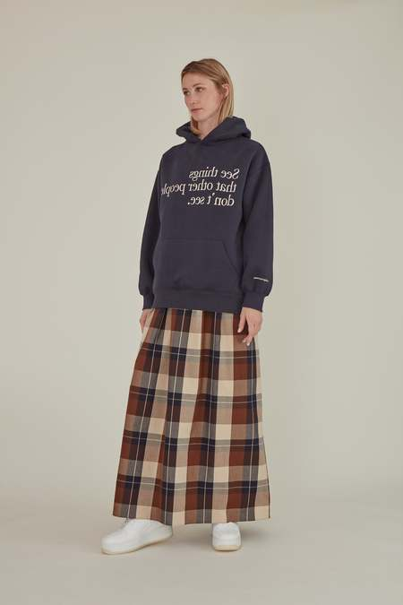 Matter Matters Gallery SEE THINGS OVERSIZED HOODIE sweater - NAVY