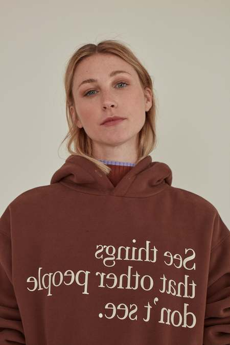 Matter Matters Gallery SEE THINGS OVERSIZED HOODIE sweater - Brown