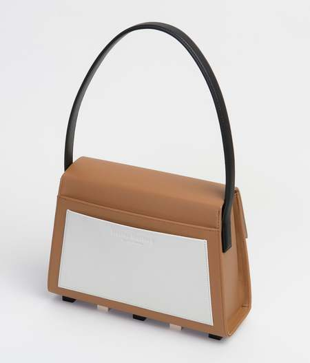 Matter Matters Long Trapezoid Satchel Bag With Top Handle - Brown