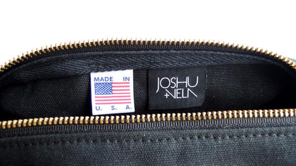 Joshu + Vela Dopp Kit Waxed - Black