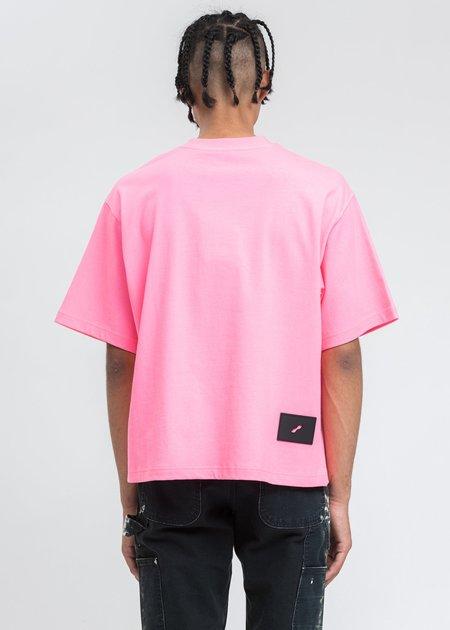we11done Homesick Logo T-shirt - Neon Pink