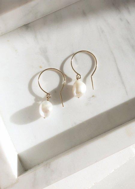Mabel and Moss Keshi Pearl Drop Earrings
