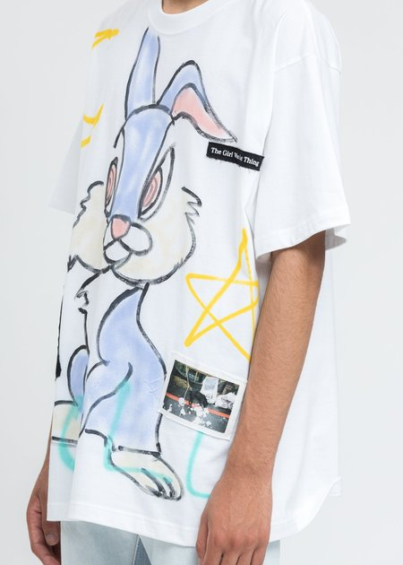 Guernika Paint T-Shirt - White/Bunny