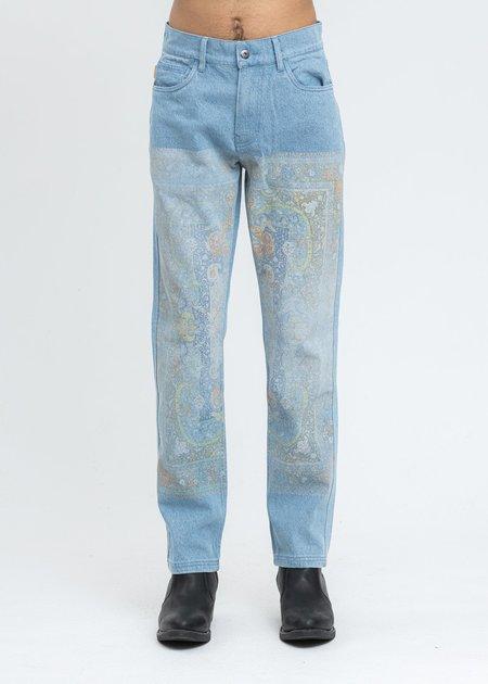 PLEASURES Walk On Me Denim Jeans - Blue