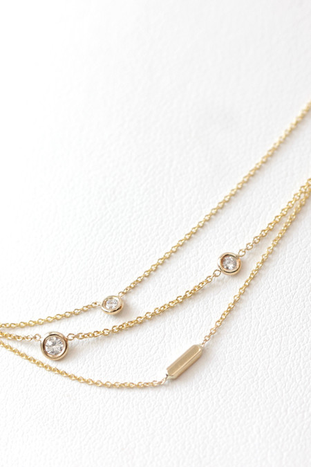 Hortense Gold and Diamond Necklaces