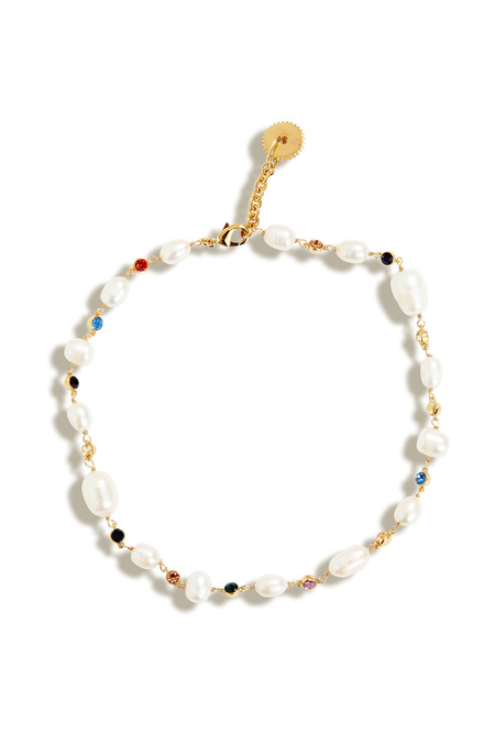 Mignonne Gavigan Lyford Mixed Rainbow Pearl Necklace - White/Multi