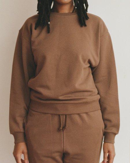 Baserange Loose Sweatshirt - Brown