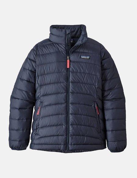 Patagonia Girls Down Sweater Jacket - Navy Blue