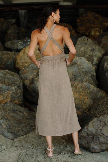 Rachel Pally Linen Lian Dress - Hazelnut