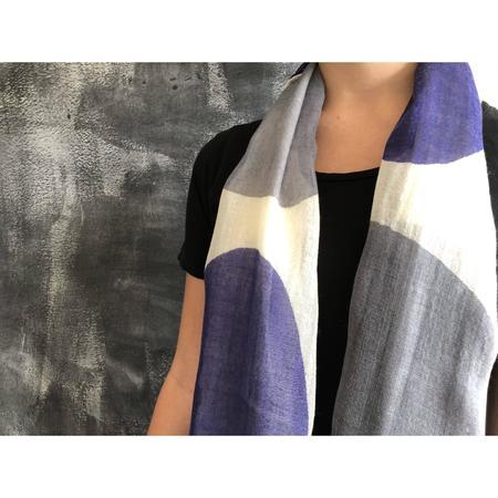 See Design Wool Scarf - Dream Blues