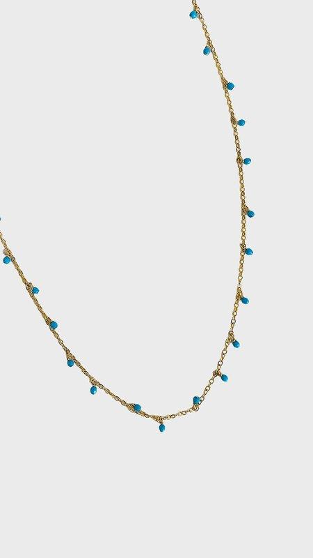 Sonya Renee Long Necklace - Turquoise