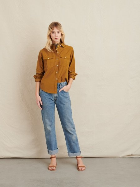 Alex Mill Georgie Pocket Shirt - Golden Khaki