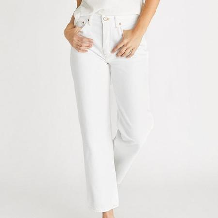 Etica Tyler High Rise Straight Jeans - Vintage White