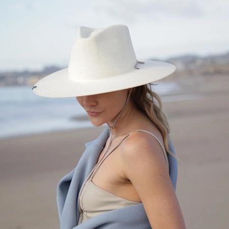 Kin The Label Josie Straw Hat - Gray/Gold