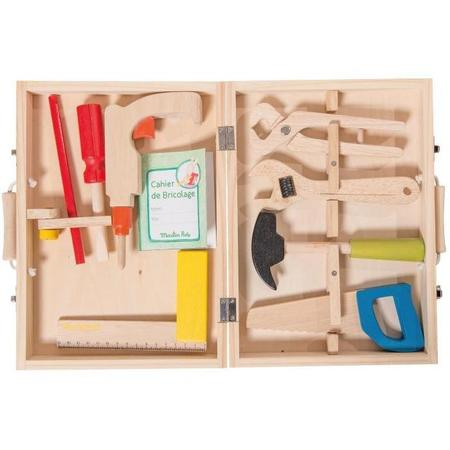 """Kids Moulin Roty """"I am Working"""" Wooden Tool Valise"""