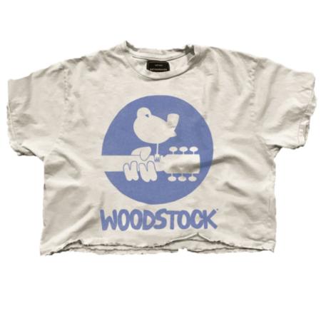 Retro Brand Crop Woodstock Top