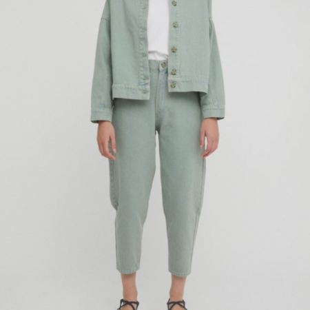 Rita Row brita Slouchy Jeans - Vintage Green