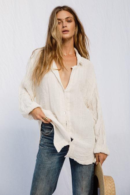 Jen's Pirate Booty Bonny Button Up Shirt - Gauze Natural