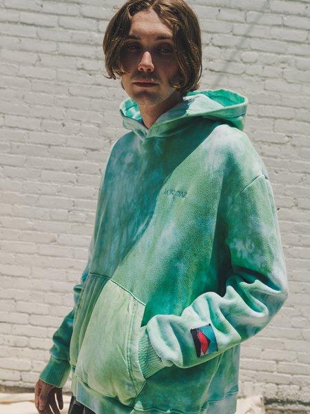 Lost Daze Zenith Hoodie - Green Tie Dye