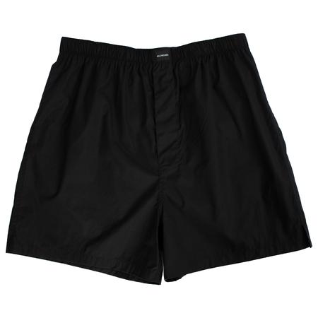 Balenciaga Cotton Boxer Shorts - Black