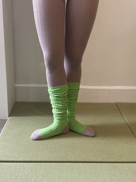 giu giu NONNA Legwarmers - Celery