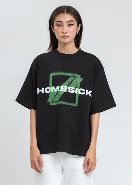 we11done Black Homesick Big Logo T-Shirt
