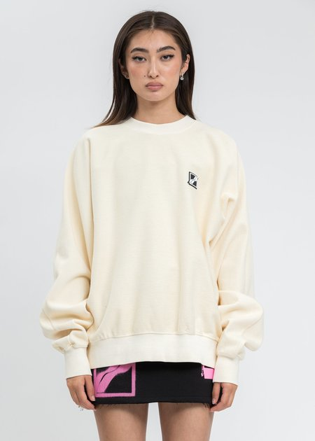 we11done Ivory Big Lettering Sweater