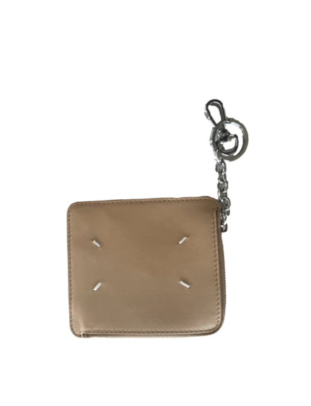 Maison Margiela ZIP WALLET WITH KEYCHAIN - Nude AND Silver
