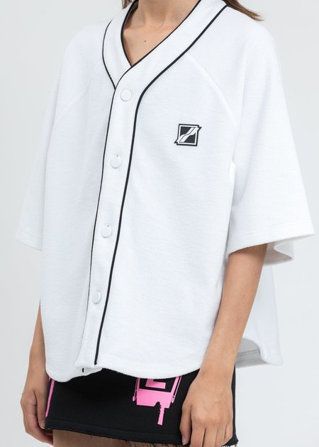 we11done White Baseball Jersey Shirt