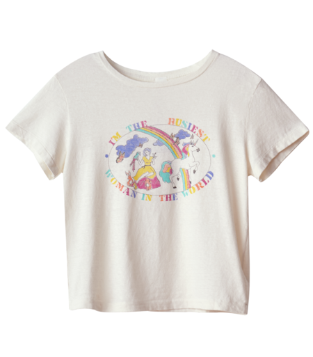 RE/DONE Busiest Woman Classic Tee - WHITE