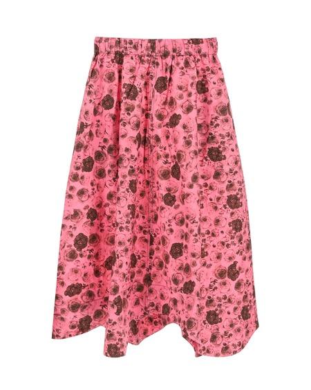 GANNI Floral Print Skirt - pink