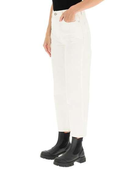 GANNI Denim Trousers - white