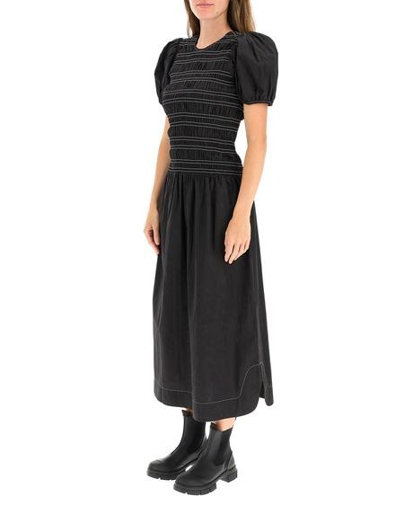 GANNI Midi Dress - Black