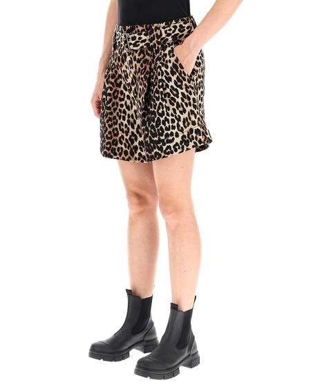 GANNI leopard Print Short Pants - multicolor