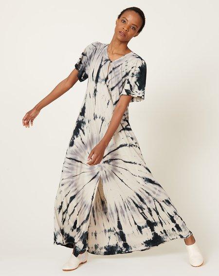 Raquel Allegra Flutter Dress - Shadow Spiral Tie Dye